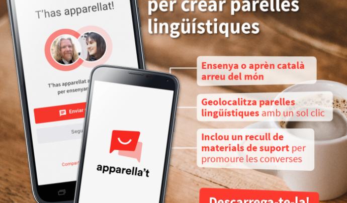 Imatge promocional de l'eina Apparella't.  Font: Plataforma per la Llengua