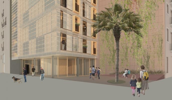 Un dels objectius dels allotjaments provisionals és lluitar contra la gentrificació. Font: Ajuntament de Barcelona