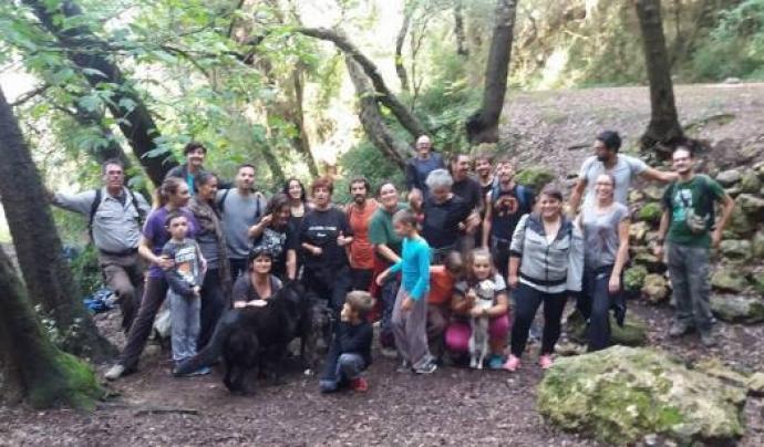 Grup de voluntaris i voluntàries d'ARBA litoral Font: ARBA