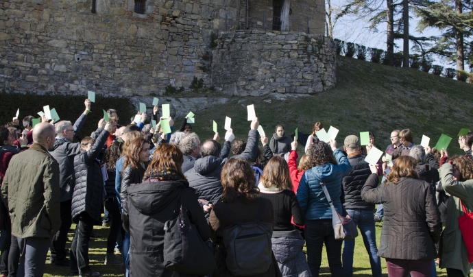 Els membres de la XCT i XVAC donen llum verda al projecte de fusió de les dos entitats. Font: Paula Puy