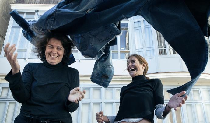 Núria Nubiola, creadora del projecte Back to Eco, a l'esquerra de la fotografia. Font: Back to Eco