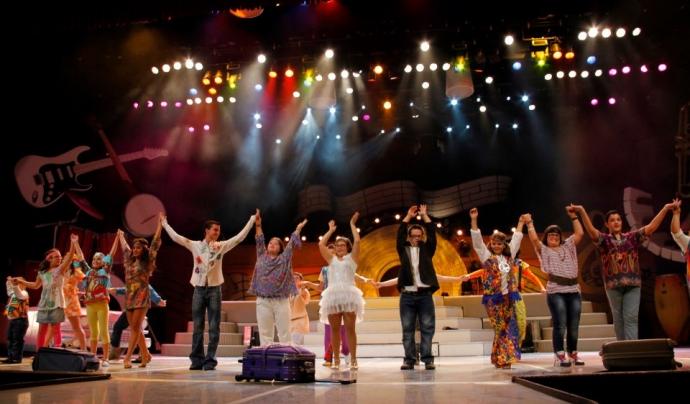 Actuació musical a la quarta edició del 'Fent Amics amb Down Catalunya'. Font: sindromedown.cat