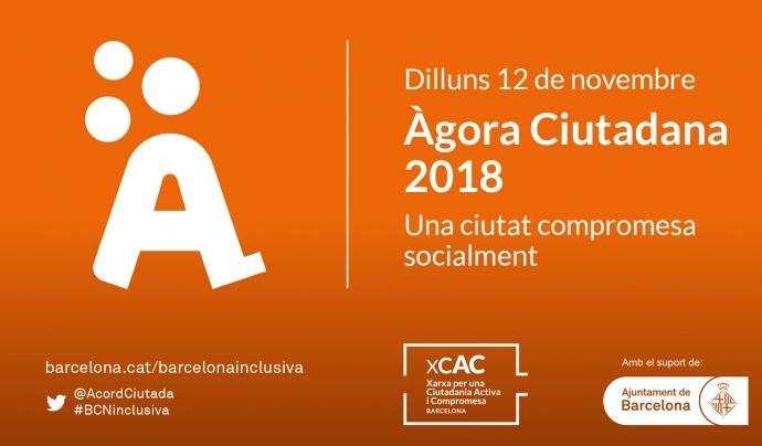 Cartell de l'Àgora Ciutadana 2018.