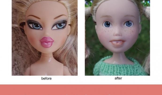 L'abans i el després del procés de canvi de les nines.
