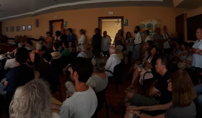 Imatges de la reunió a l'Ajuntament de Begur del 9 de juliol