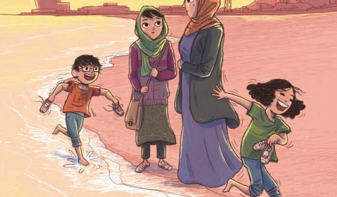 Il·lustració de portada del còmic.