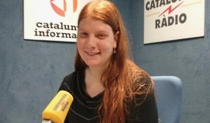 Carol Coll, presidenta de l'Associació de Naturalistes de Girona, durant una entrevista a Catalunya Ràdio Font: Catalunya Ràdio
