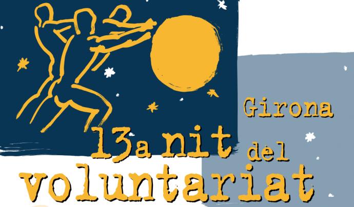 Cartell de la XIII Nit de Voluntariat de Girona.