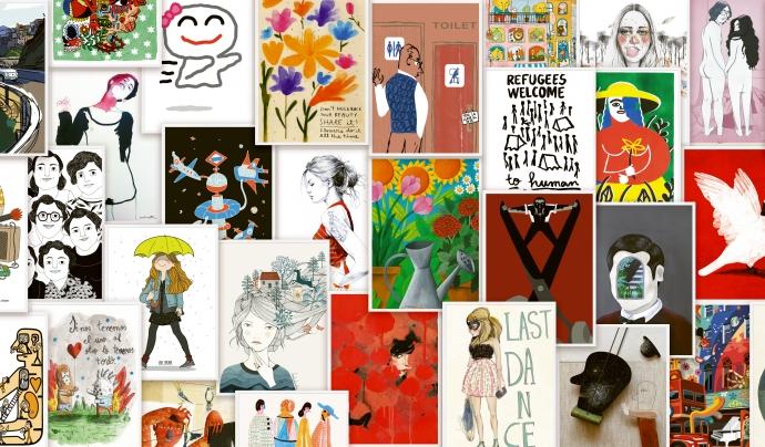 Dos-cents artistes han aportat gratuïtament els seus dibuixos i il·lustracions.