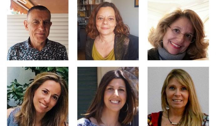 De dalt a baix i d'esquerra a dreta: Jesús Gràcia, Àngels Codosero, Ana Minieri, Angelina Graell, Paola Picardo i Sandra Borro. Font: ACPP