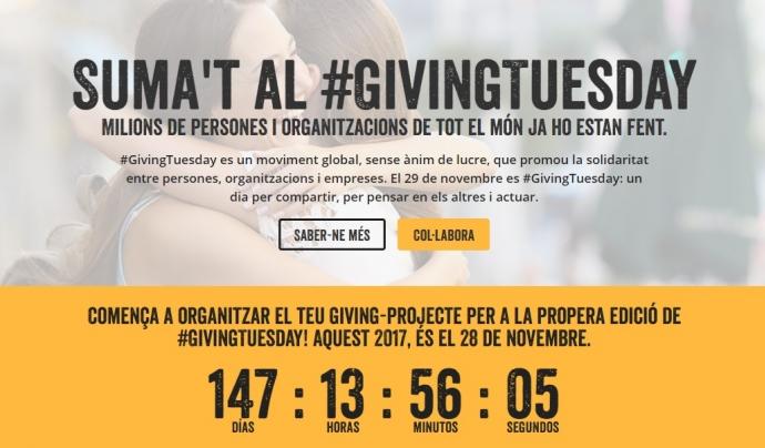 Compte enrere pel Giving Tuesday 2017. Font: Giving Tuesday