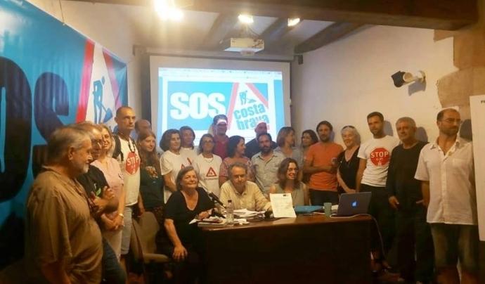 La plataforma SOS Costa Brava reclamar un Pla Director de Sistema Urbanístic Costaner per preservar el patrimoni natural del litoral Font: Plataforma SOS Costa Brava