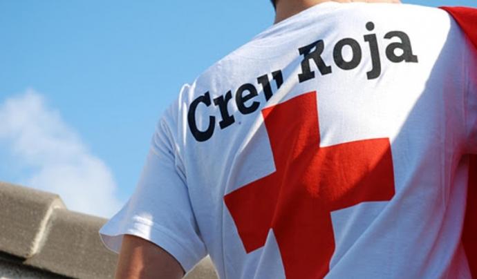 Samarreta d'un voluntari de la Creu Roja.