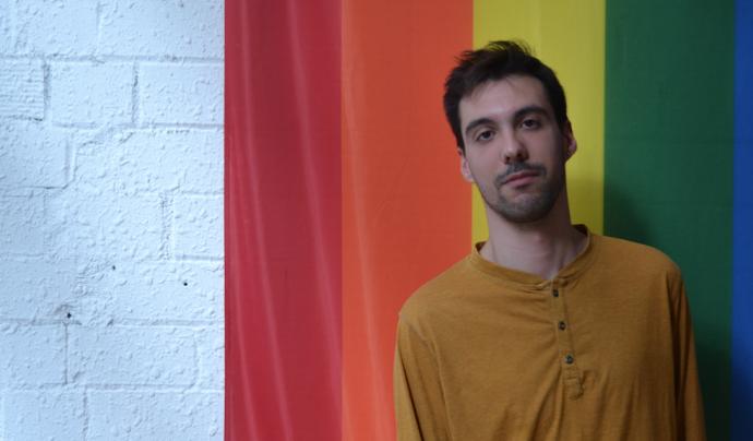 Cristian Carrer, coordinador tècnic de l'Observatori Contra l'Homofòbia. Font: FCVS