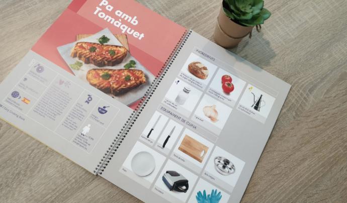 El llibre de cuina fàcil és fruit del projecte europeu 'EasyCookings'. Font: Fundació Ramón Noguera