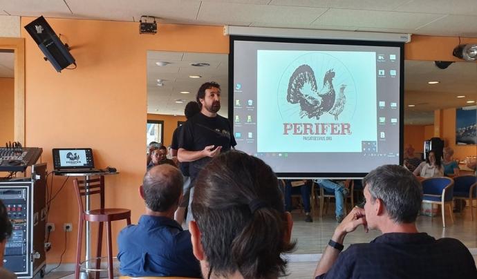 A través del projecte Perifer, l'associació Paisatges Vius ha apropat el coneixement sobre el gall fer a diversos col·lectius. Font: Paisatges Vius