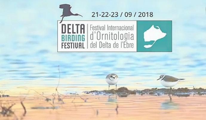 Cartell de la cinquena edició del Delta Birding Festival, que se celebra del 21 al 23 de setembre a Món Natura Delta