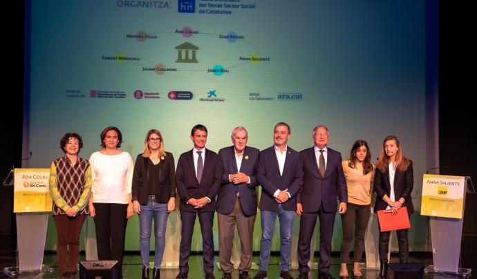 Alcaldables a l'Ajuntament de Barcelona en un debat organitzat per la Taula del Tercer Sector. Font: Taula del Tercer Sector