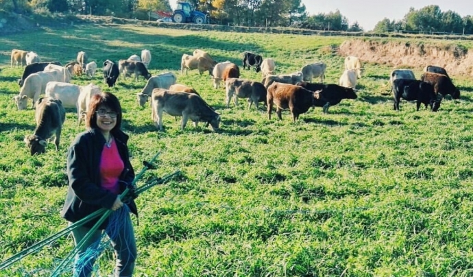 L'associació reuneix dones de tot Catalunya, com l'Imma Costa, pagesa al Lluçanès