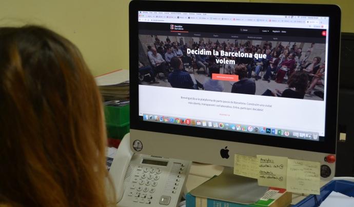 La plataforma Decidim és una eina digital per fomentar la participació d'entitats, administracions públiques i ciutadania. Font: FCVS