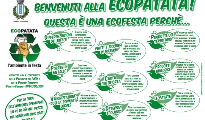 És important comunicar a totes les persones participants la voluntat de ser una EcoFesta i explicar les accions que s'han pres  Font: prolocomontecrestese.it
