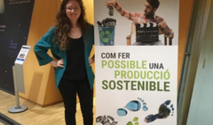 Emelie O'Brien a la passada edició del Festival Internacional de Cinema de Mediambient FICMA de Barcelona Font: FICMA