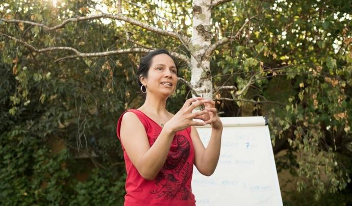 Erika Zarate és especialista en resiliència comunitària i organitzacional. Font: Resilience Earth