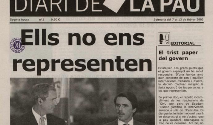 El Diari de la Pau va ser el primer projecte de l'associació, pel qual va rebre el Primer Premi de Premsa als Mitjans de Comunicació 2003 de Barcelona. Font: Fora de Quadre Font: Fora de Quadre