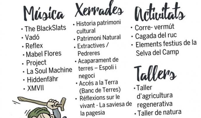 Cartell de la 4ª edició de la Festa pel Territori  Font: Festa pel Territori