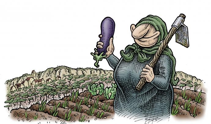 La pagesa Galderica, imatge de la Festa pel Territori  Font: Festa pel Territori