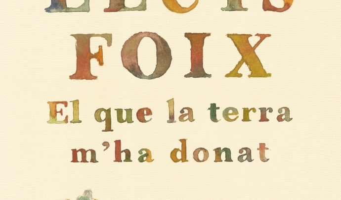 """Lluis Foix presenta a la Fira el seu llibre """"El que la terra m'ha donat"""""""