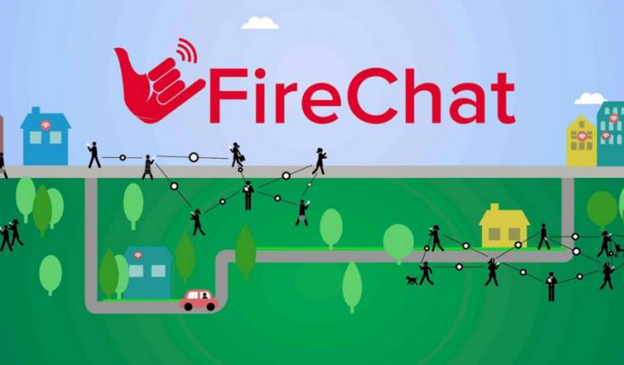 Imatge de l'aplicació Firechat Font: Firechat
