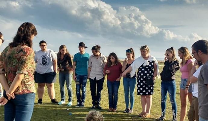 """Un grup de joves voluntaris i voluntàries europeu en un seminari de """"Voluntariat pel canvi"""""""