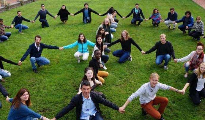 """Trobada a La Haya amb el programa de voluntariat """" Clam per la pau"""""""
