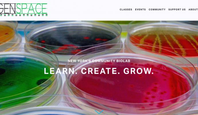 Captura de pantalla de la pàgina Genspace.