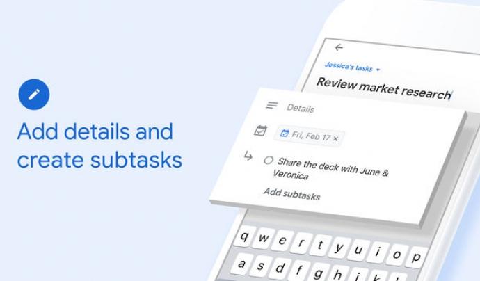 Imatge promocional de Google Tasks Font: Google Tasks