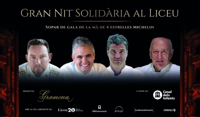 Cartell promocional de la Gran Nit Solidària al Liceu. Font: Casal dels Infants