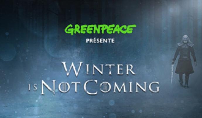 Greenpeace va aprofitar la popularitat de la sèrie Joc de trons per parlar sobre el canvi climàtic Font: Greenpeace
