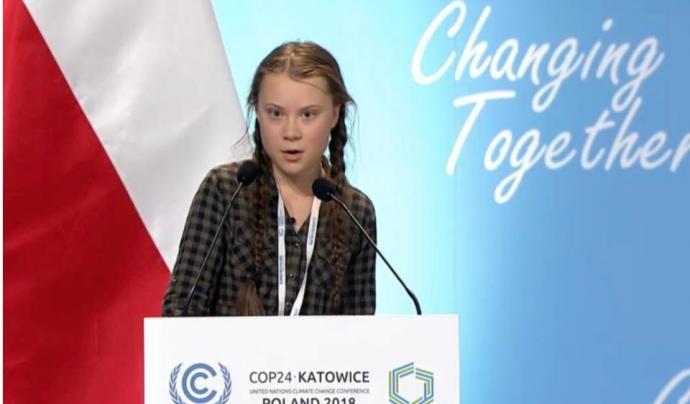 Greta Thunberg va acusar a la classe política de no ser prou madura Font: Greta Thunberg