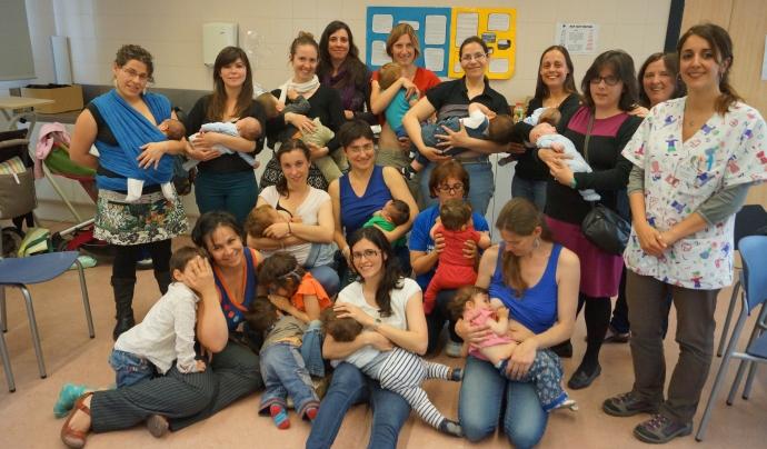 Foto de grup del grup de lactància del CAP Sant Rafael Font: Rita Vera