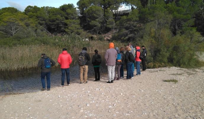 El Grup de Treball de custòdia marina visita la llacuna de Torrent del Pi, al litoral de L'Ametlla de Mar Font: Graëllsia