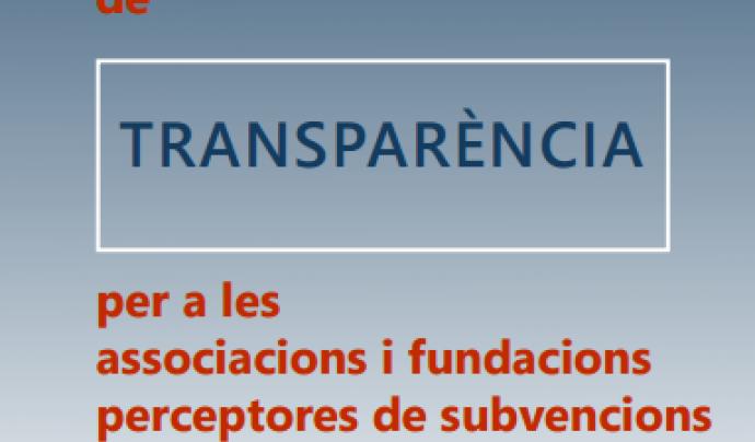 Portada de la Guia de Transparència Font: Generalitat de Catalunya
