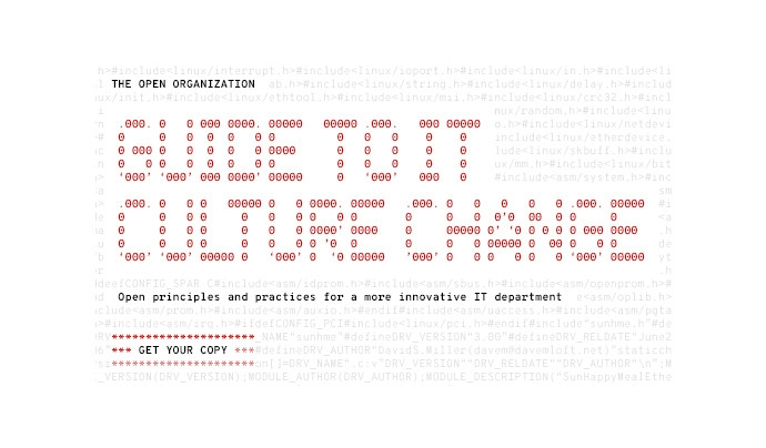 Guide to it cultural change Font: Open Source