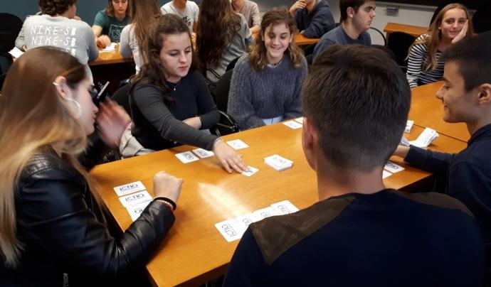 El joc ha estat testejat  també per estudiants de secundària   Font: GRECO
