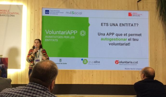 L'associació Alba presenta 'VoluntariAPP', l'aplicació mòbil que connecta entitats i voluntariat. Font: FCVS