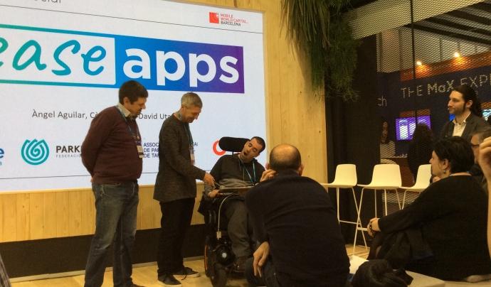 La Fundació ASPACE i la FEPCCAT presenten tres aplicacions per millorar la qualitat de vida de persones amb paràlisi cerebral. Font: FCVS