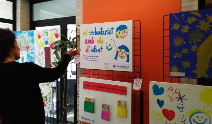 Exposició el voluntariat amb ulls d'infant