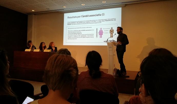 Eticas Foundation ha estat l'encarregada de realitzar l'estudi 'Lecosistema de les TIC des de la perspectiva de gènere a Barcelona'. Mariano Martín va presentar els resultats en la jornada del 18 de maig.