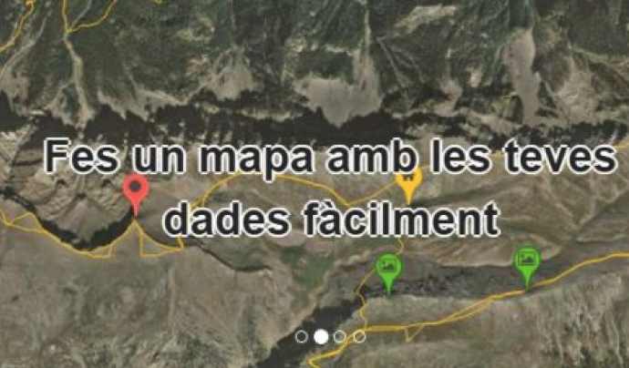 Instamaps permet crear mapes personalitzats i afegir-hi dades. Font: Instamaps