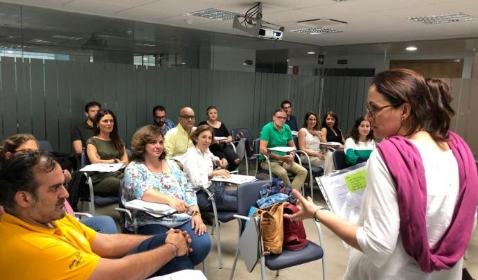 La directora de Causes, en una formació a Andalusia amb AFA. Font: AFA